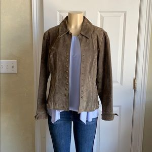 Coldwater Creek Suede Jacket with snaps